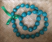 Hawaiian Kukui Nut Lei-Teal