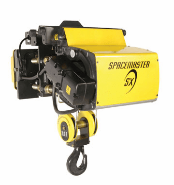 1 Ton R&M Spacemaster SX Single Reeved Electric Wire Rope Hoist
