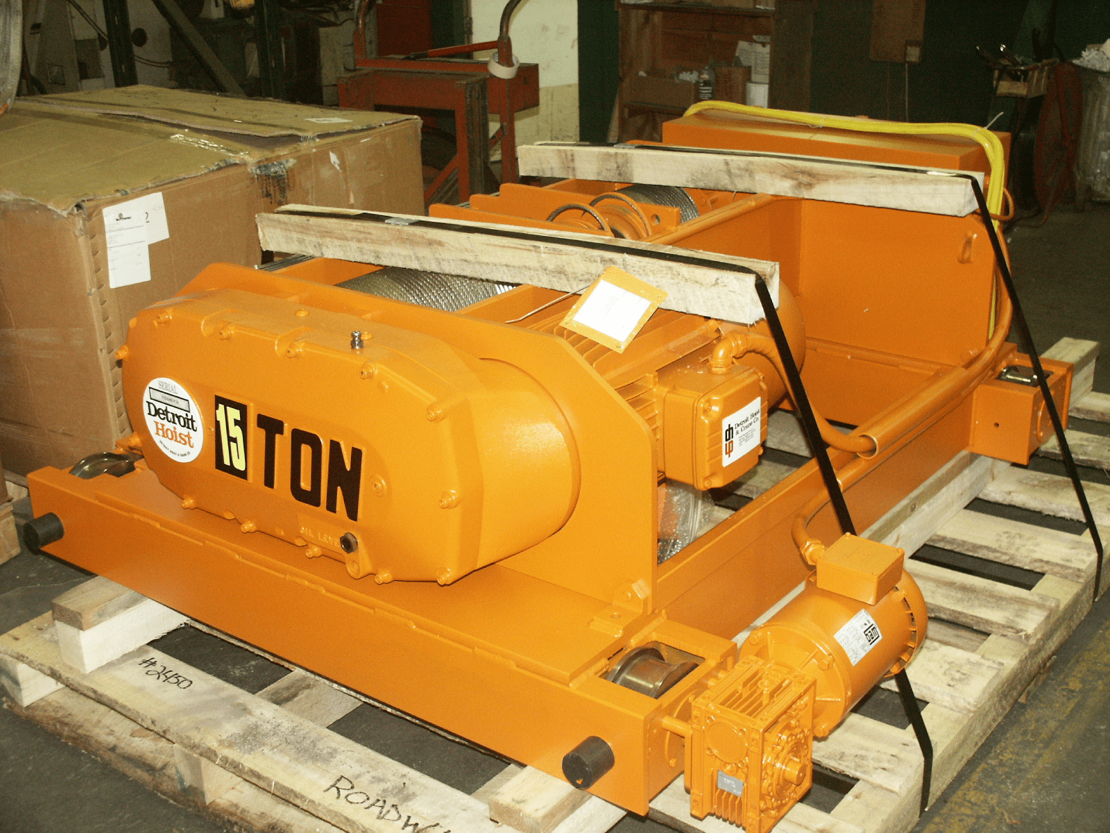 Detroit 20 Ton TRDG Electric Wire Rope Hoist, 20/5 FPM
