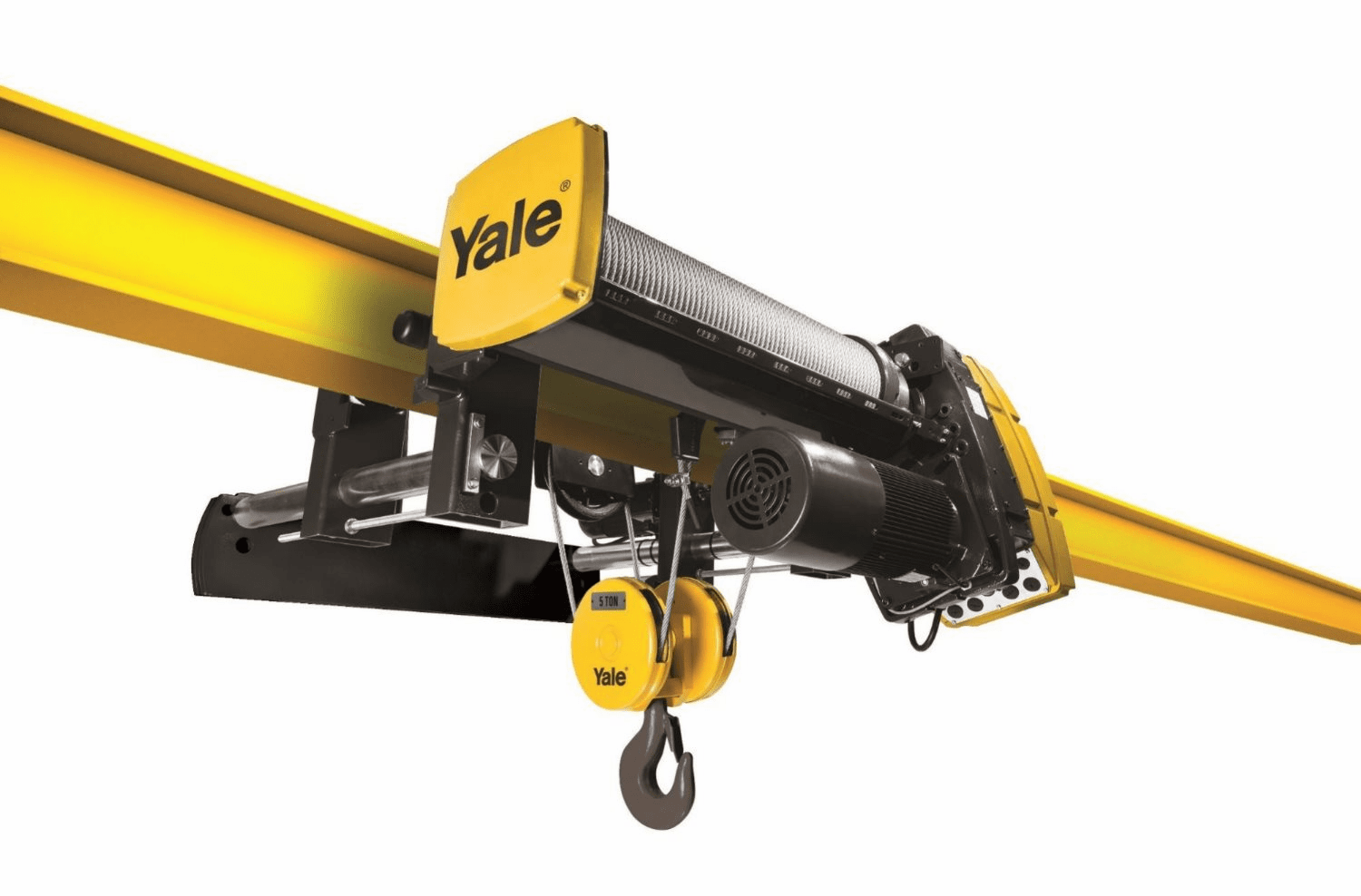 Yale 7.5 Ton YK, 4 part reeve monorail, 20/3.3fpm
