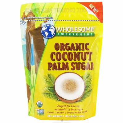 Coconut Palm Sugar, Organic, 454g/1lb - Coconut Palm Sugar