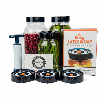 Easy Fermenter Wide Mouth Lid Kit - 3 Lids & Pump