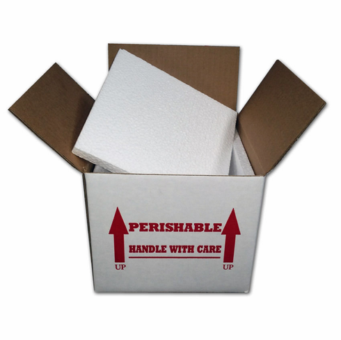 "Insulated Shipping Box 7"" x 7"" x 6"" With 1/2"" Foam, EA"