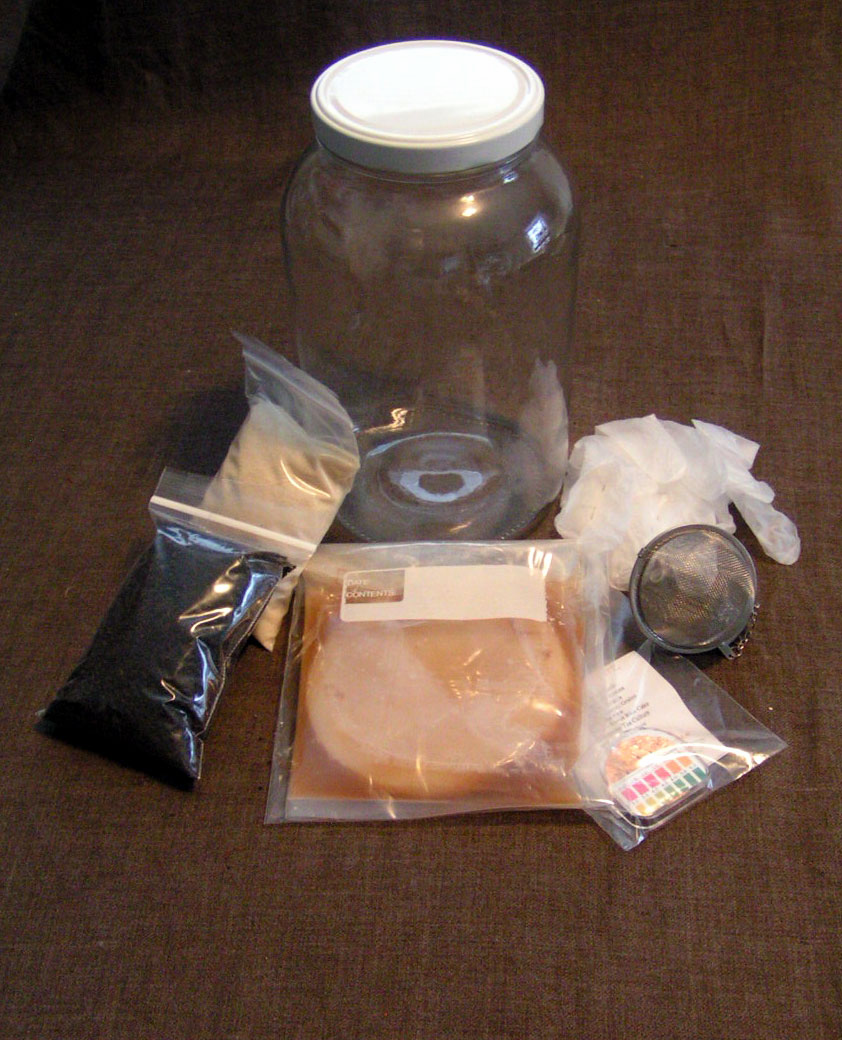 Kombucha Mushroom Brewing Kit, Complete Raw Kombucha