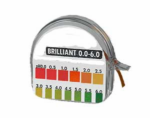 pH Test Strips,  Kombucha & Cultured Foods, 0-6 pH, 1 roll, 15'