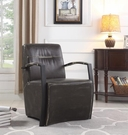 Industrial Accent Chair with Metal Arms