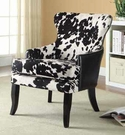 Cowhide Print/Leatherette Accent Chair