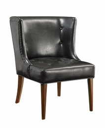 Accent Seating Leather Vinyl Accent Chair