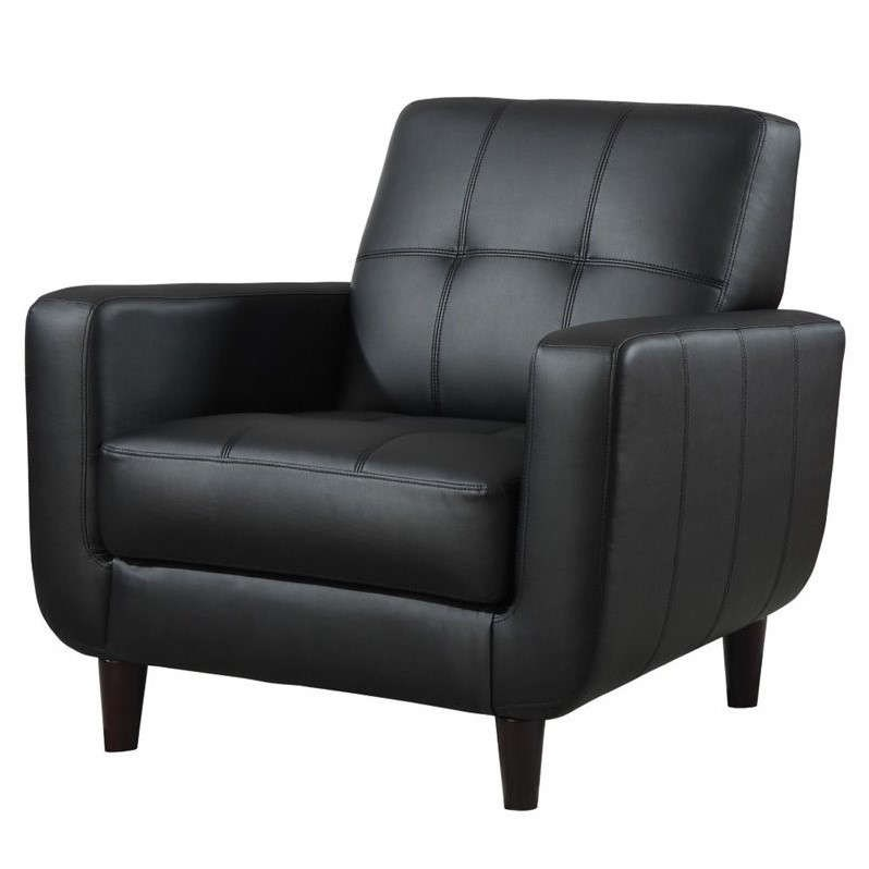 Delicieux Black Accent Chair With Round Wood Legs By Coaster Furniture 900204    Dallas Fort Worth