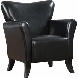 Black Accent Vinyl Upholstered Chair