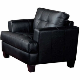 Black Bonded Leather Chair
