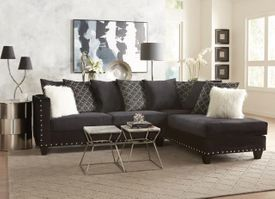 Implosion Black Tuxedo Sectional