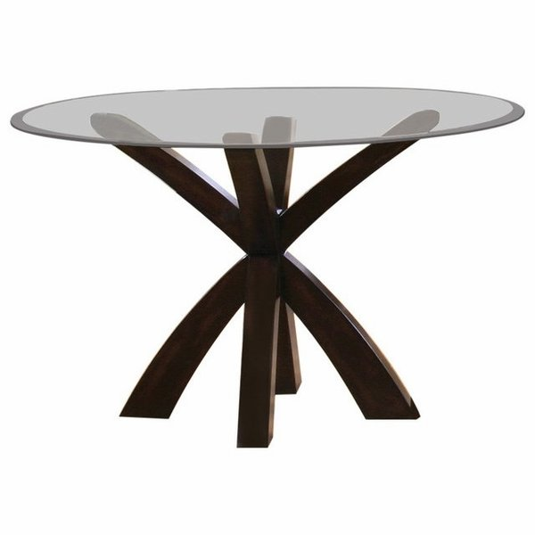 Pedestal Table and Glass Top # 101071 (2pk)