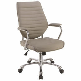 Scott Living Contemporary High Back Taupe Office Chair