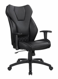 Leatherette High Back Black Office Chair