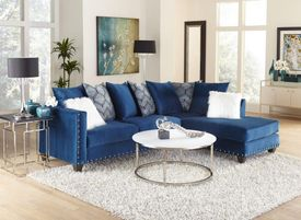 Melon Saphire Sectional