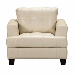 Cream Bonded Leather Chair