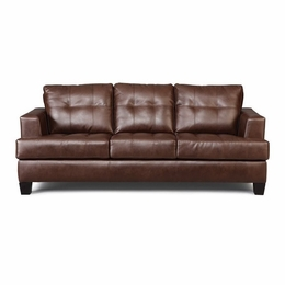 Brown Bonded Leather Sleeper Sofa