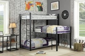 Aubrey Twin Triple Decker Bunk Bed