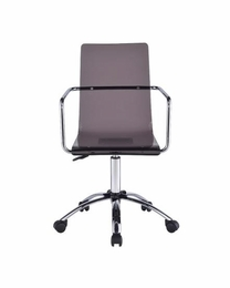 Acrylic Office Chair with Steel Base