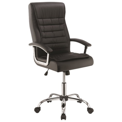 Scott Living Black Leatherette Office Chair