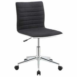 Black Sleek Office Chair with Chrome Base