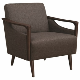 Scott Living Brown Mid-Century Modern Accent Chair
