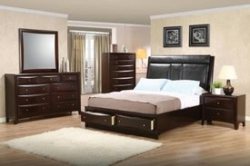 Phoenix Collection with Storage Bed 4-pc Set