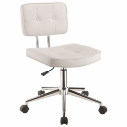 Scott Living White Armless Modern Office Chair