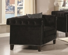 Reventflow Black Velvet Chair