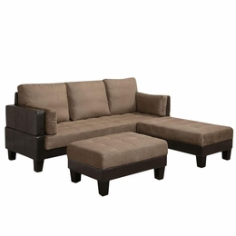 Sofa Bed with 2 Ottomans