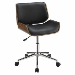 Black Contemporary Leatherette Office Chair