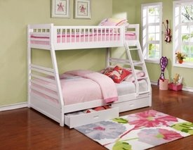 Ashton White T/F Bunk Bed