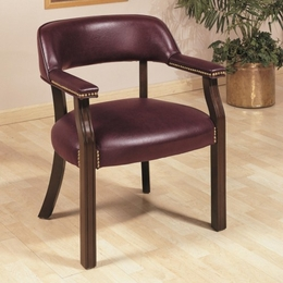 Vinyl Side Chair with Nailhead Trim