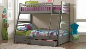 Ashton Grey Twin over Full Bunk Bed