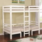 White Finish Twin Over Twin Convertible Loft Bed