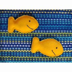 Gold Fish Cat Toy - Set of 2