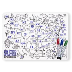 Mark-Mat: US Map + 3 markers
