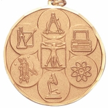 1-1/2 INCH SCIENCE GENERAL MEDAL - MULTIPLE COLORS