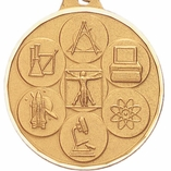 1-1/2 INCH SCIENCE MEDAL, GOLD