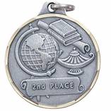1-1/4 INCH 2ND PLACE MEDAL, SILVER