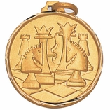 1 1/4 INCH CHESS MEDAL, GOLD