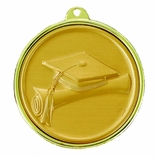 2-1/4 INCH MEDAL GRADUATION, CAP AND SCROLL - MULTIPLE COLORS