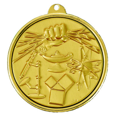2-1/4 INCH MEDAL SCIENCE FAIR - MULTIPLE COLORS
