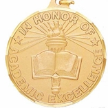2 INCH IN HONOR OF ACADEMIC EXCELLENCE MEDAL - MULTIPLE COLORS