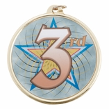 3RD PLACE MEDAL WITH 2 INCH MYLAR