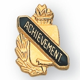 ACHIEVEMENT PIN GOLD ENAMELED