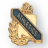 ATHLETICS PIN GOLD ENAMELED