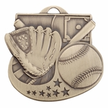 BASEBALL MEDAL - MULTIPLE COLORS