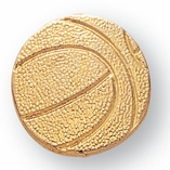 BASKETBALL CHENILLE PIN GOLD